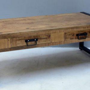 Industriële salontafel met lade