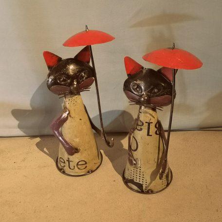 Poes met paraplu