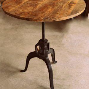 ronde tafel in hoogte verstelbaar
