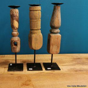 houten-pinakel-kandelaar